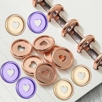 100pcs mushroom hole binding disc buckle heart colorful round rings plasticloose leaf ring book diy binder notebook office