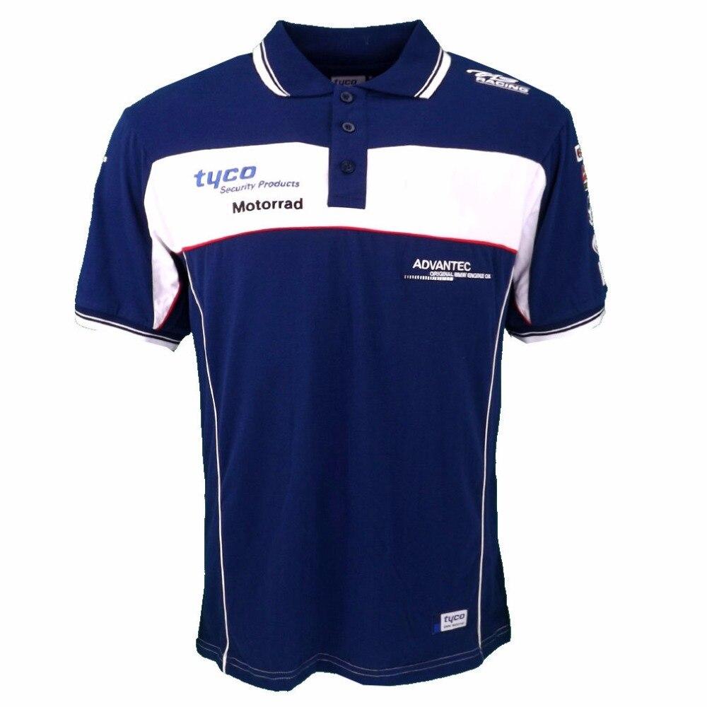 Polo de alta calidad para BMW, Camiseta de algodón para motocicleta MX Dirt Bike Motorrad, Jersey de manga corta de verano para hombre