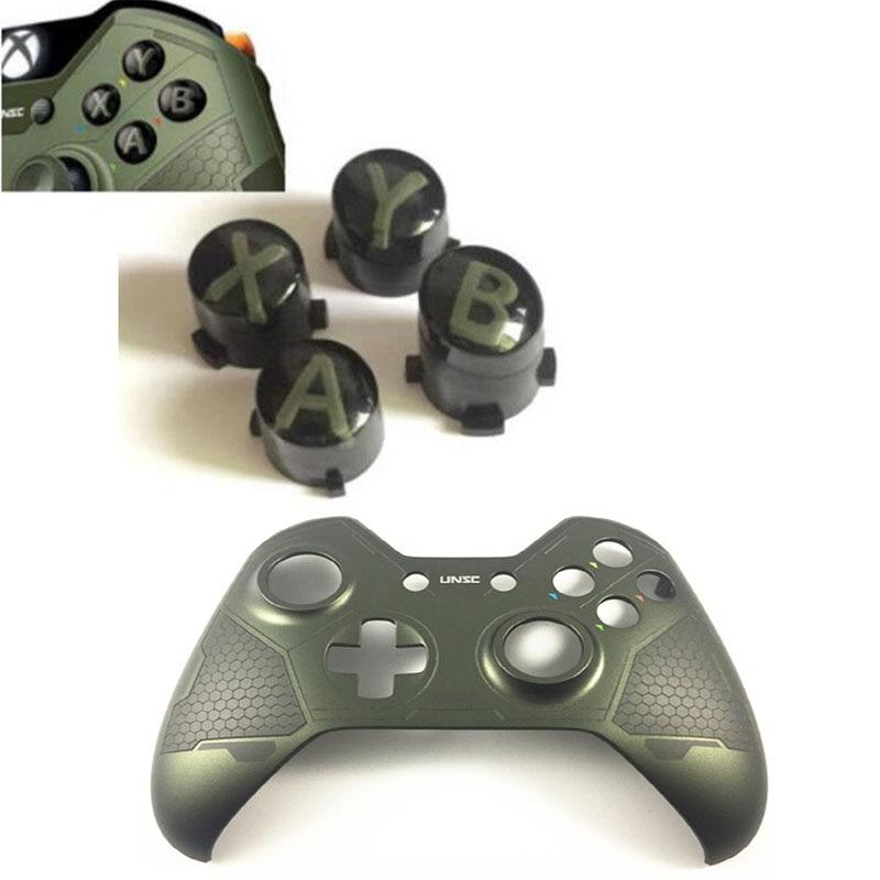 Para la carcasa del controlador de Xbox one reemplazar la cubierta frontal superior de la cubierta de la carcasa de 5 guardianes edición limitada con la reparación de los botones ABXY personalizados