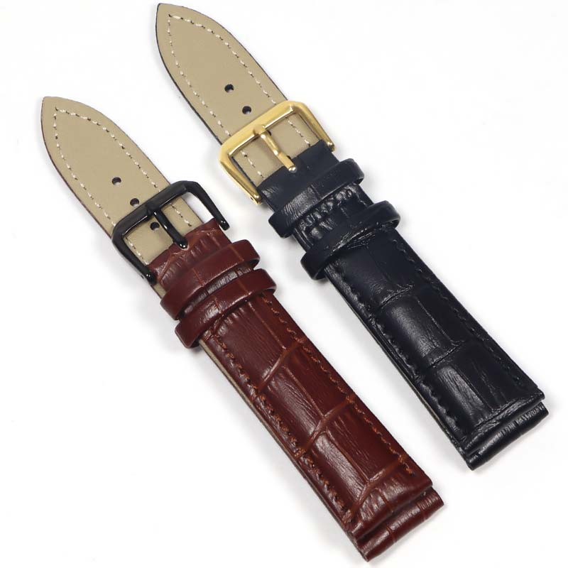 20mm coffee brown silicone jelly rubber unisex watch band straps wb1072s20jb Watch Band Genuine Leather Straps 18mm 20mm 22mm Watch Accessories High Quality Brown Colors Watchbands