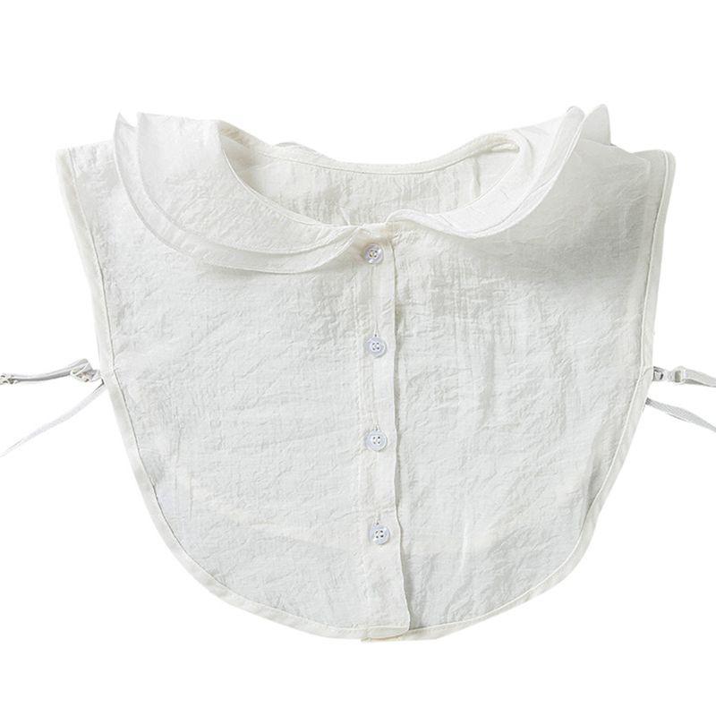 Feminino menina outono destacável meia-camisa em camadas agaric babados lapela colar falso