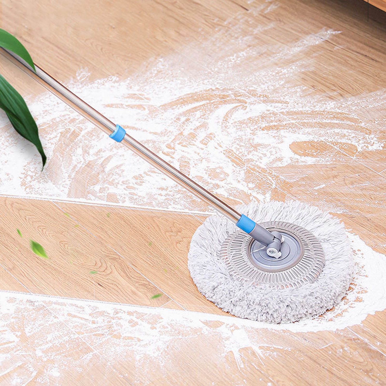 flat mop high quality aluminum alloy mop floor mop cleaning tool stainless steel rod 360 Degree Rotating Chenille Wet Mop Ceiling Flat Mop Car Window Cleaner Tool with Stainless Steel Telescopic Rod Handle