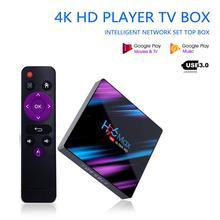 H96 Max-3318 Android 9,0 Smart TV Box 4G und 64G 4K Media Player mit T1and Fly Air maus Stimme Band Gyroskop für HTPC