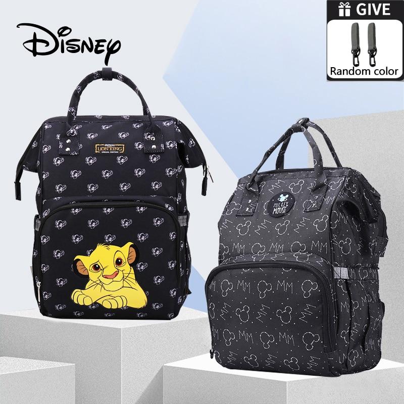Disney Cartoons Lion King Baby Diaper Bags USB Heating Waterproof Maternity Nappy Diaper Stroller Bag Large Capacity Backpack