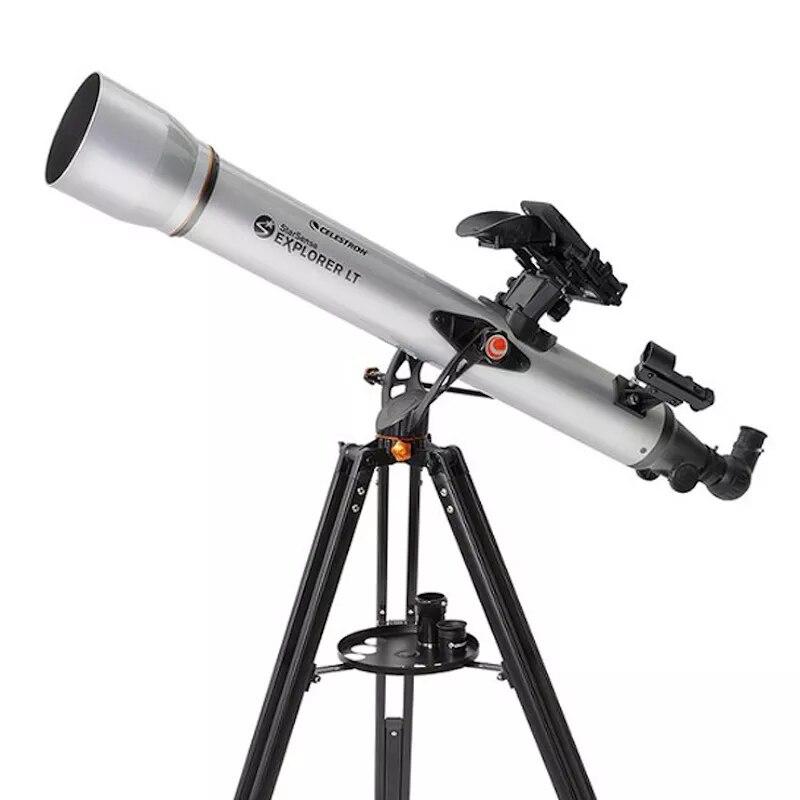 سيليسترون بروفيشنال ستارسنس اكسبلورر LT80 من الألف إلى الياء هاتف ذكي مزود بتطبيق انكسار 80 مللي متر F/11 تلسكوب فلكي