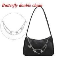 butterfly metal bag chain fashion all match purse chains replacement handbag pendant shoulder strap bag chain bag accessories