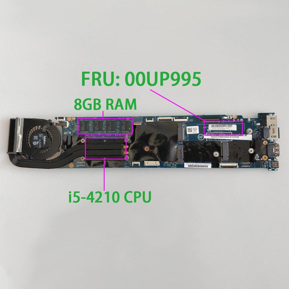 FRU00UP995 w i5-4210 CPU 8GB RAM для Lenovo Thinkpad X1 Carbon NoteBook PC материнская плата