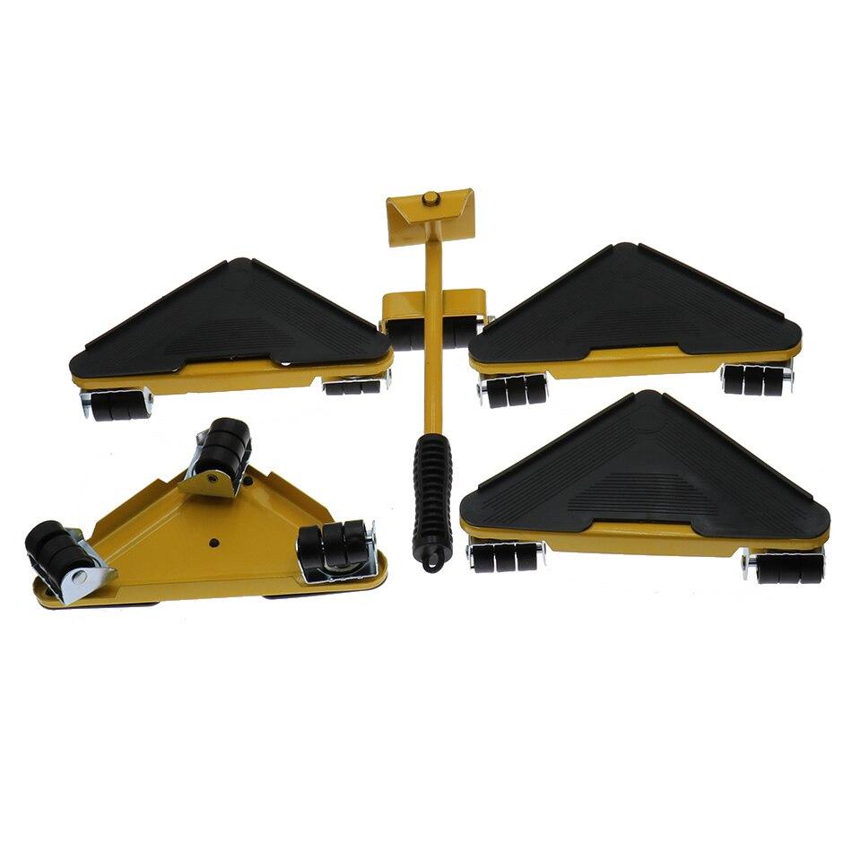 1set Furniture Transport Roller Mover Tool Transport Lifter Heavy Stuffs Moving 4 Wheeled save effort enlarge