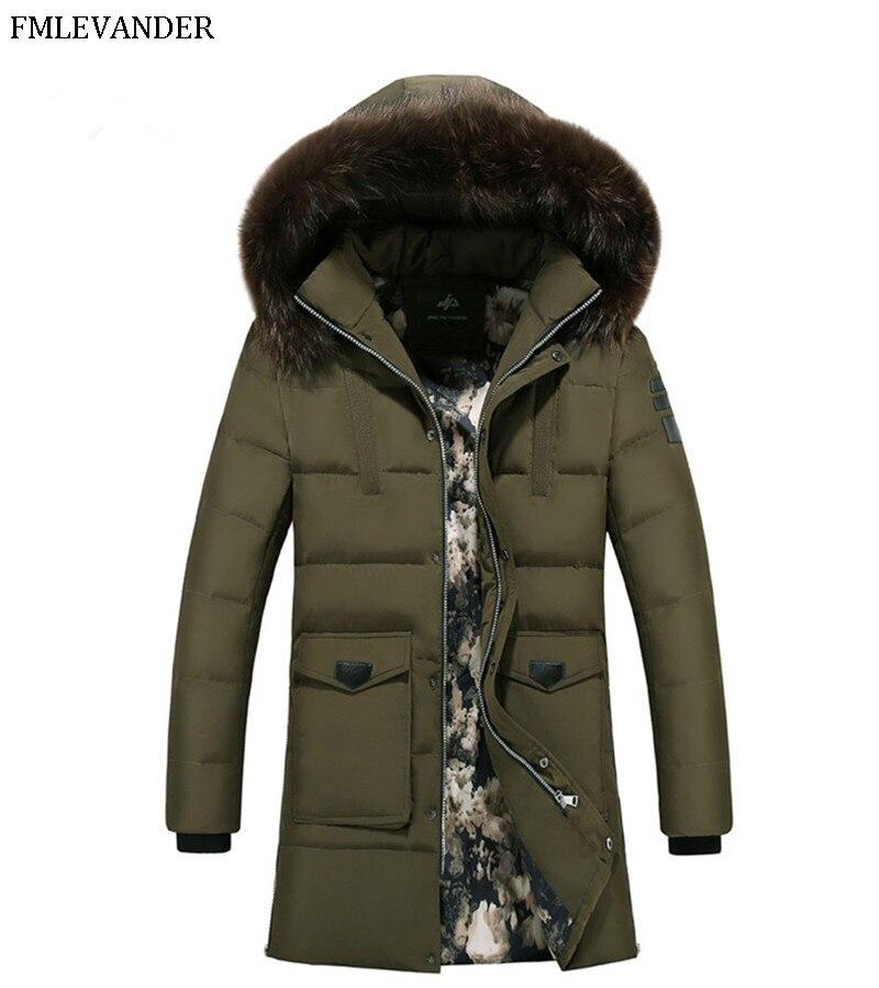 2019 Men Casual Detachable Hooded Long Parka Winter Men Fashion Cotton Thick Warm Casual Coat Men Ou
