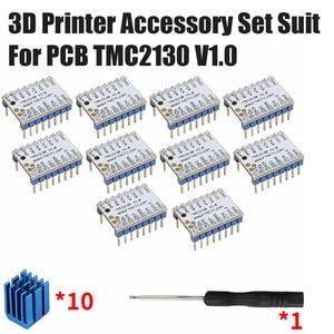 3D Printer Accessory Set Suit  For PCB TMC2130 V1.0 StepStick Mute Driver*10PCS Eliminator*5PCS 3D Printer Accessories