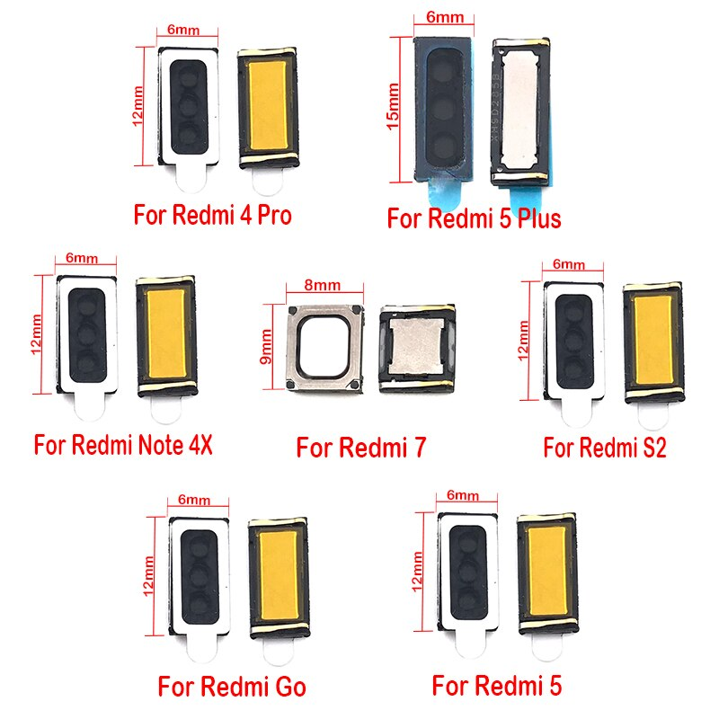 20 unids/lote auricular oreja altavoz receptor para Xiaomi Redmi ir S2 4A 5 Plus 7 7A nota 4X 5 5A 6 7 Pro