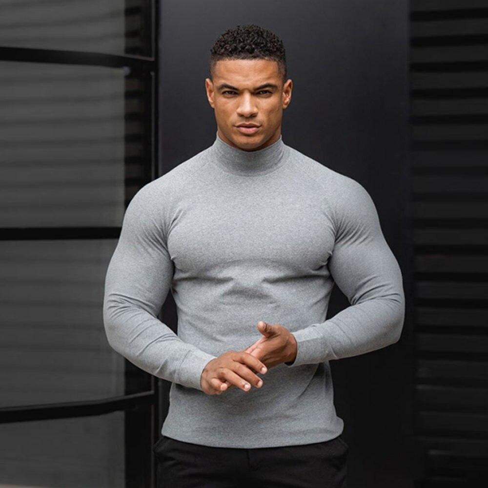 Camisa de compressão masculina manga longa ginásio roupas ajuste rápido ginásio correndo footbll esporte bodybuliding t-shirts