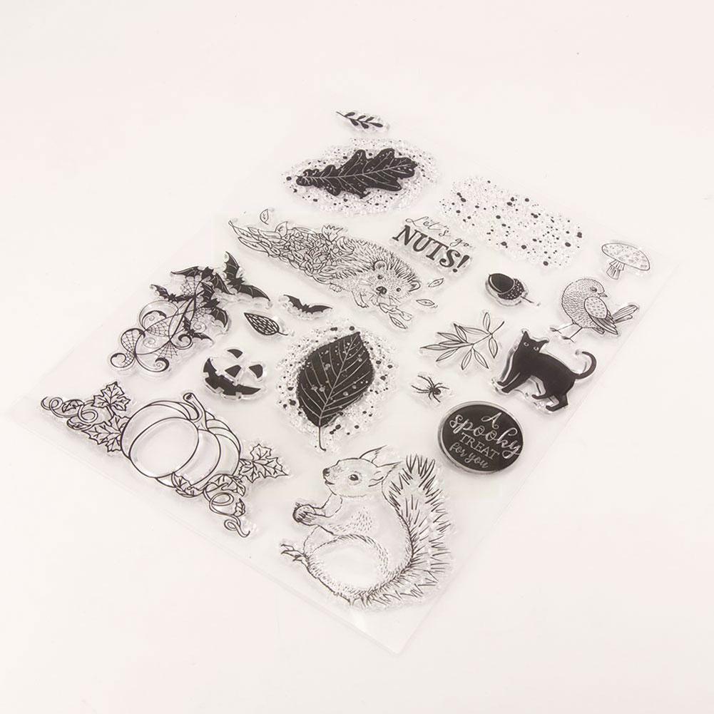 Halloween Hedgehog TPR Transparent Silicone Rubber Clear Cartoon Scrapbooking/DIY Wedding Easter Stamps Album  Wooden Die