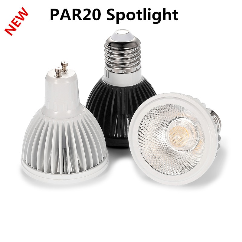 10 stück. Neue COB PAR20 Led-lampe 85-256V Dimmbare E27 15W LED P20 Scheinwerfer Lampen Pure Weiß/warm Weiß/Cool White Spotligh