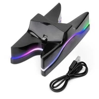 new game controller charger stand for ps4 usb led dual gamepad fast charging dock station for sony ps 4 controller