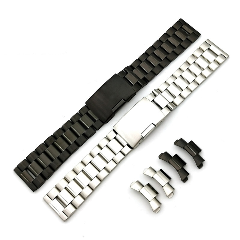 18mm 20mm 22mm Watchband Stainless Steel Strap Arc Mouth bracelet metal watchband For Seiko Replacement  Strap Curved End link stainless steel watchband bracelet 20mm 22mm men metal brushed curved end watch band strap clocks accessories