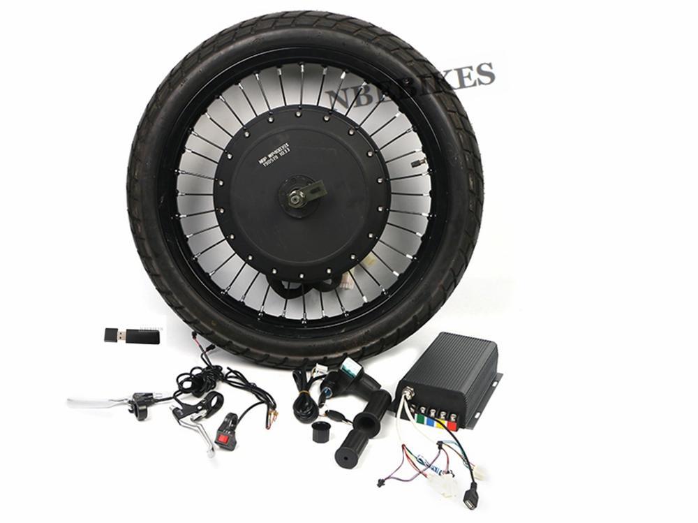 """Motocicleta Kit de conversión de 8000W 72V trasera sin escobillas Motor de rueda 18 """"19"""" bicicleta eléctrica con 72V 150A Sabvoton controlador de frenos"""