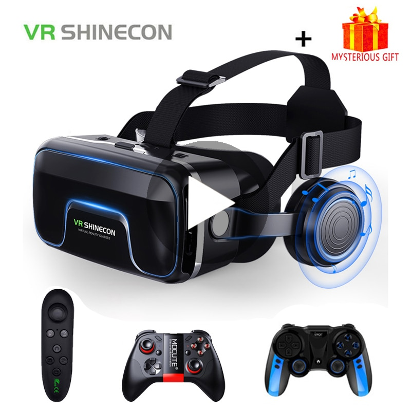 VR Shinecon 10.0 Casque Helmet 3D Glasses Virtual Reality Headset For Smartphone Smart Phone Goggles