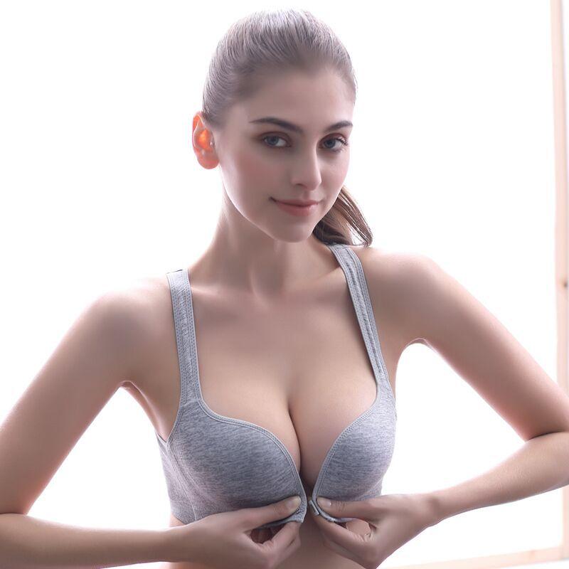 PAERLAN Front Closure  Elegant Underwear Women's Vest Wire Free Sports Bra New Small Breast Push Up Fashion Bra