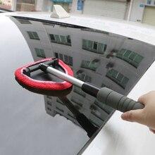 Leepee janela raspagem névoa eliminador telescópica limpador de vidro da janela do carro de microfibra brisa escova de limpeza limpador de janela