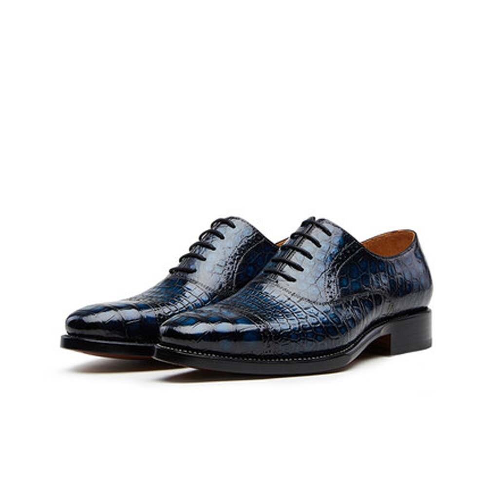CWV رجال الأعمال فستان أحذية الدانتيل متابعة التمساح أحذية من الجلد مكتب أحذية الحفلات باطن الجلود الرجال الأحذية الرسمية