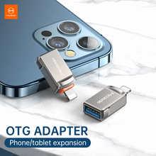 Адаптер данных Mcdodo USB 3,0 на lightning OTG для iPhone 12 11 Pro XS max XR X 8 7 6 6s iPad Tablet конвертер данных SD карта U диск