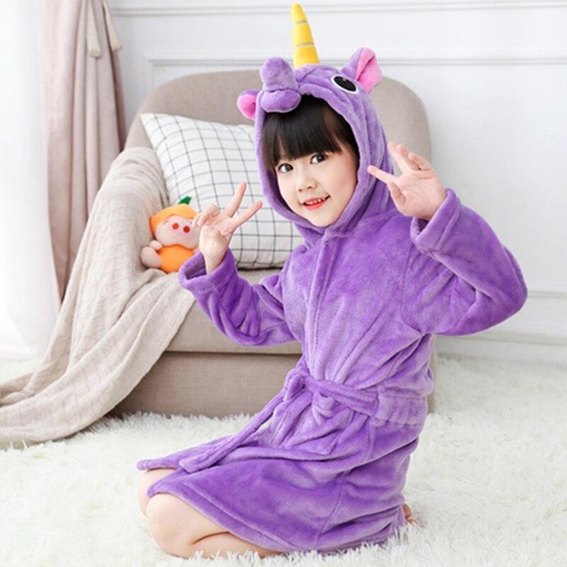 Kids Sleepwear Robe Children Towel Beach Baby Bath Robe Animal Hooded Bathrobes For Boys Girls Pyjamas Nightgown Winter New