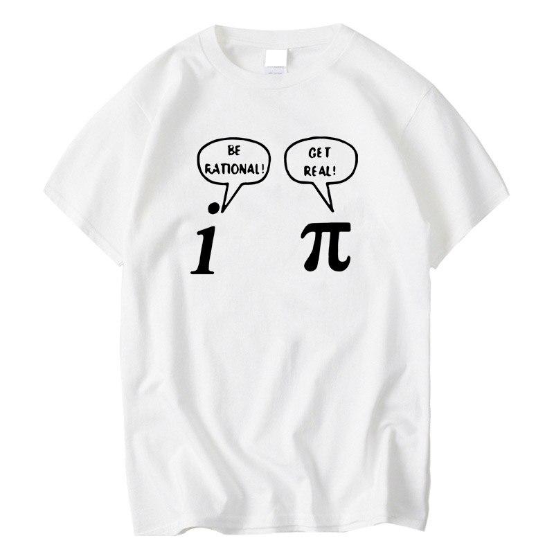 Футболка XIN YI мужская с круглым вырезом, забавная Свободная рубашка из 100% хлопка, с математическим геометрическим принтом, с короткими рукавами