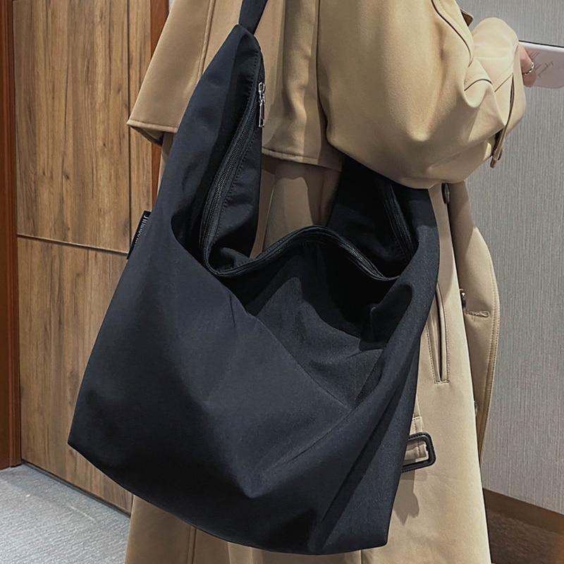VeryMe 2020 New Canvas Totes Bags Women Casual Wild Ladies Handbags Solid Color Shoulder Women Bag Simple Female Messenger Bag