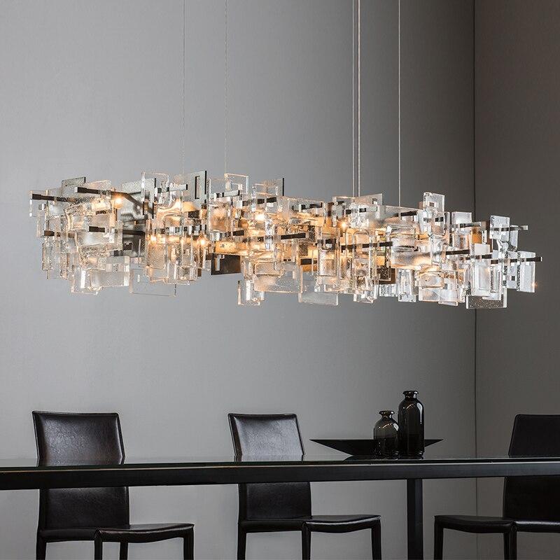 الشمال ضوء غرفة المعيشة الفاخرة LED أضواء الثريا بسيطة فندق قاعة الديكور مطعم المطبخ جزيرة الثريا