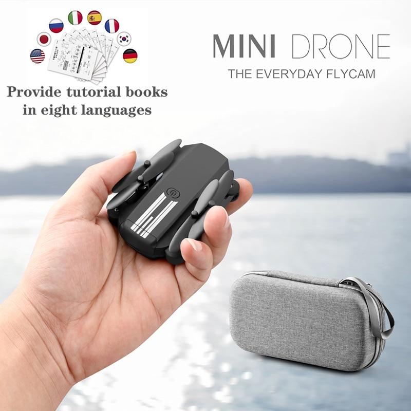 كاميرا أتش دي طائرة من LS-MIN كوادكوبتر للعب الأولاد, صغيرة، تعمل بالواي فاي، فائقة، قابلة للطي، 1080، 480 بيكسل