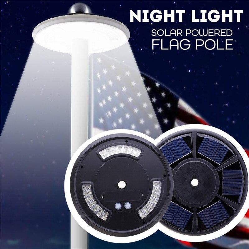 Heißer 42 LED Outdoor Solar Power Fahnenstange Lichter Schwarz/Weiß Zelt Lichter Notfall Lampe Taschenlampe Haken Nacht Licht für Camping