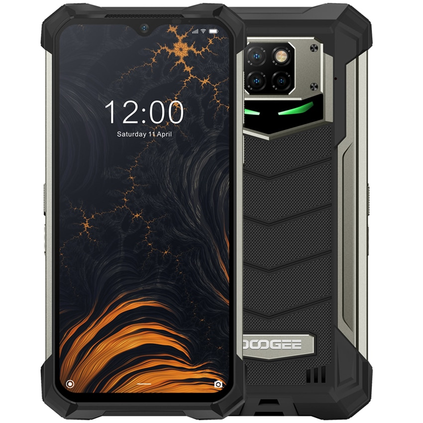 DOOGEE S88 Plus NFC 10000mAh shockproof Rugged Mobile Phone 48MP Camera 8GB RAM 128GB ROM 4G smartphone Android 10 telephone