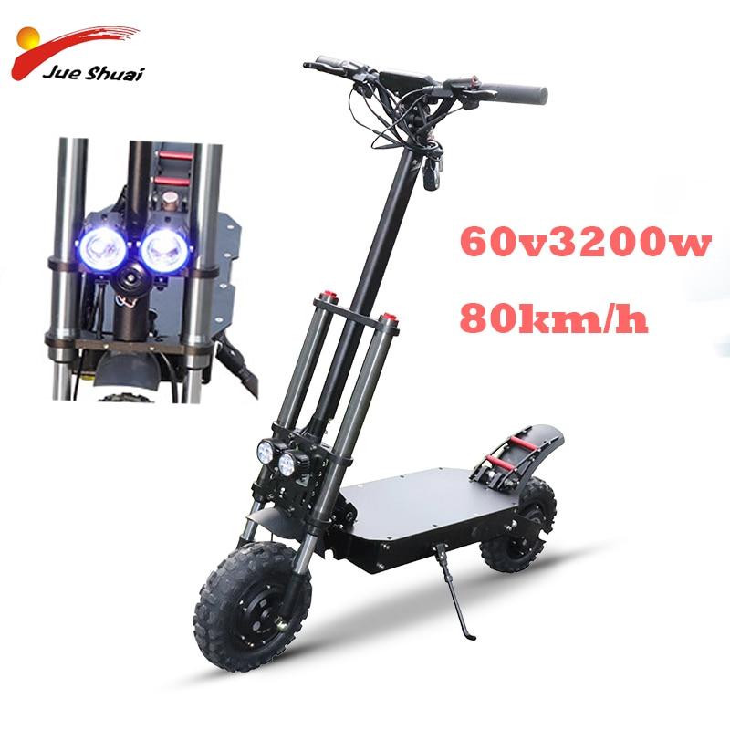 Scooter Eléctrico fuera de carretera de 11 pulgadas para adultos 52V 2600W fuerte potente 23.5Ah plegable bicicleta eléctrica plegable hoverboad bicicleta scooters