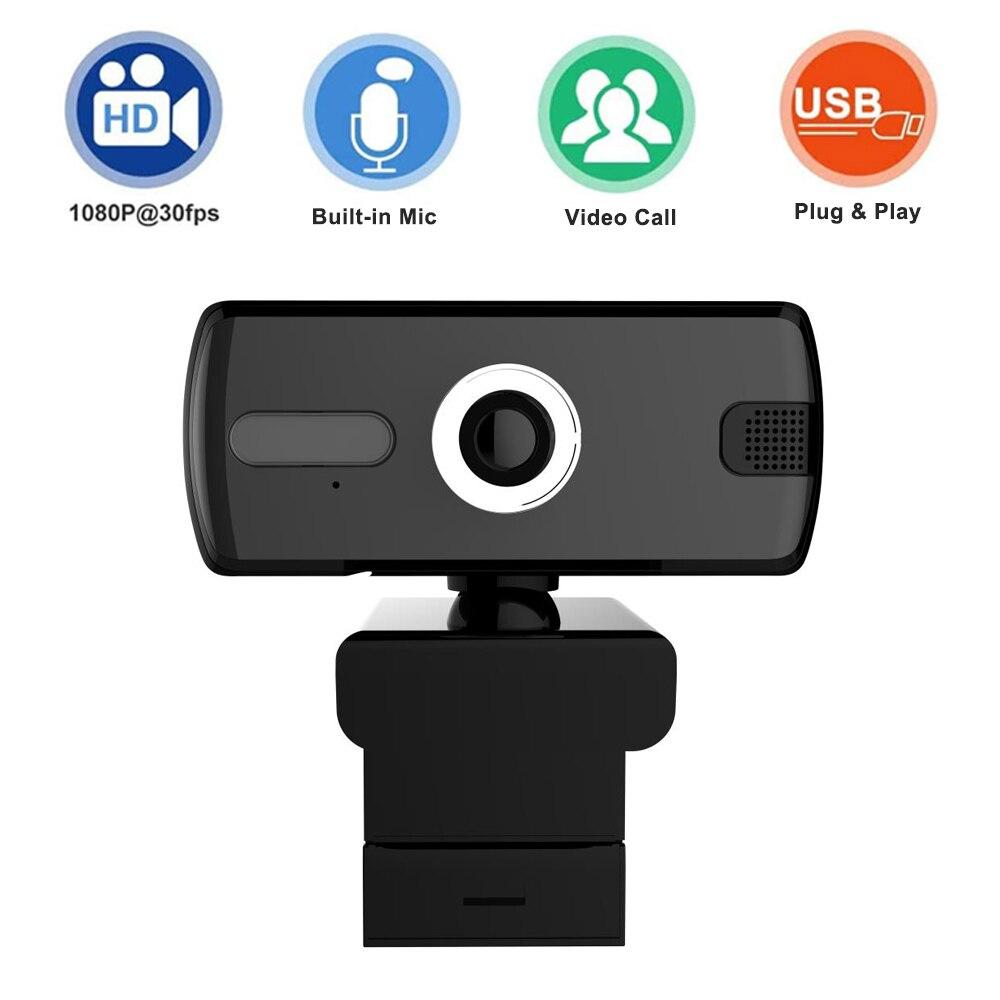 Webcam 1080P HD Webcam cámara Web micrófono cámaras giratorias para transmisión en...