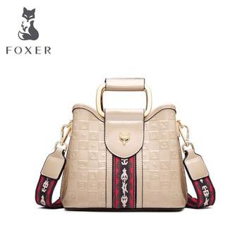 FOXER Women leather bags fashion cowhide bag luxury handbags women bags designer bags famous brand women bags 2020 new