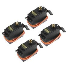 4Pcs MG995 180° High Torque Metal Gear RC Servo Motor For Boat Helicopter Car Set kids toys juguete
