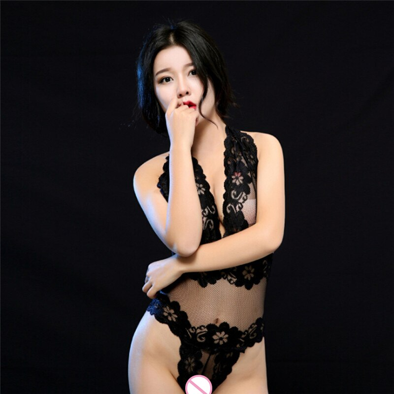 1 PC Women Erotic Underwear Deep V Lenceria Teddy Sexy Lingerie Hot Porno Perspective Lace Sex Dress