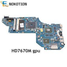 NOKOTION 687229-001 QCL51 LA-8712P pour HP pavillon M6 M6-1000 ordinateur portable carte mère Socket fs1 HD7670M DDR3 test complet