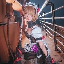 Game Honkai Impact 3 Rita Rossweisse Cosplay Costume Valkyria Black Rose Maid Dress Full Set