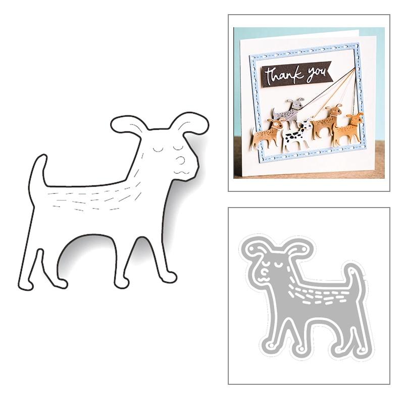 2020 nuevo Animal Dog hilo de coser repujado Metal corte troqueles para Álbum de bricolaje tarjeta de felicitación papel recortes hacer sin sellos