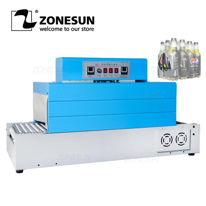 ZONESUN-آلة تغليف المنتجات الانكماشية الأوتوماتيكية ، آلة تغليف الفيلم بأدوات المائدة