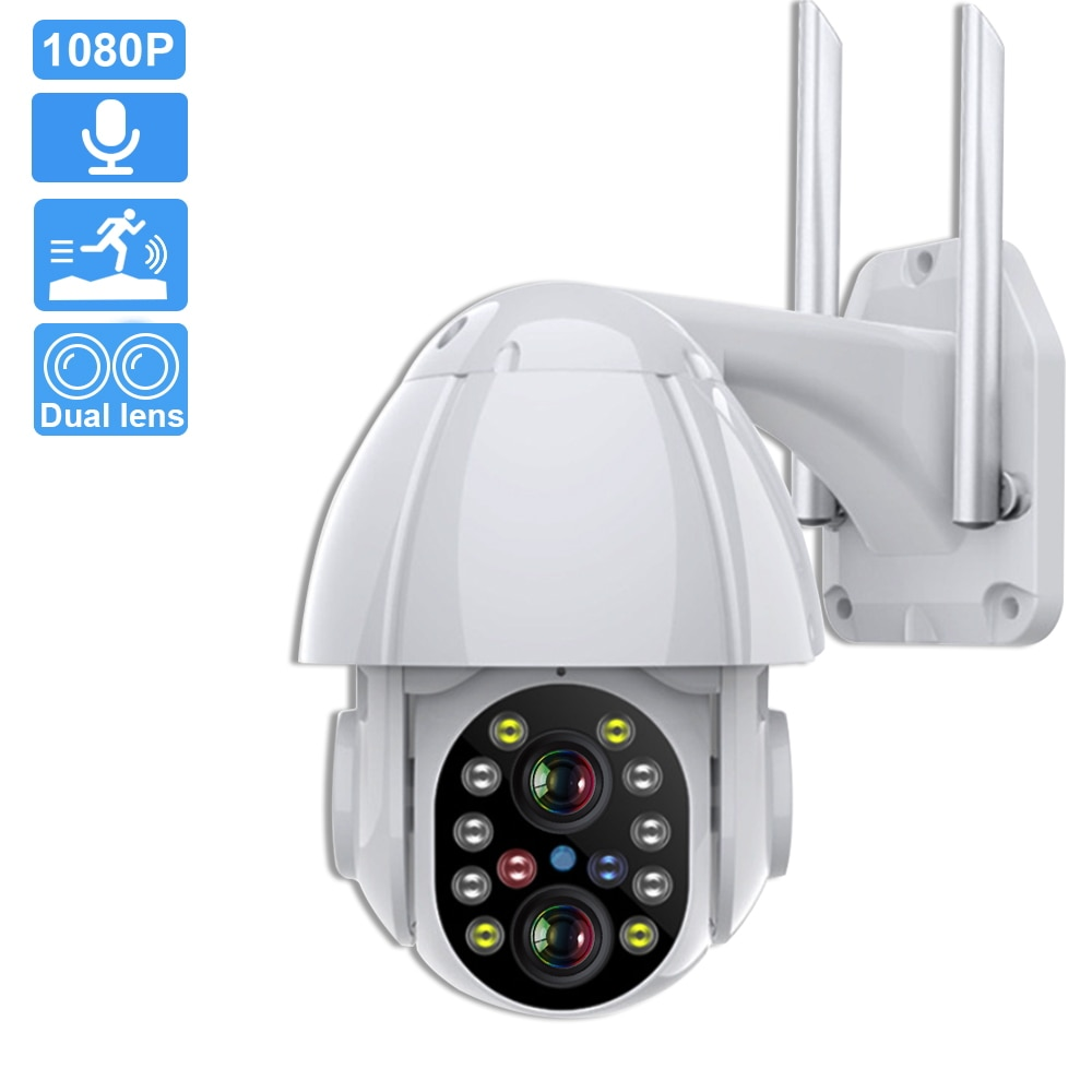 xiaomi hualai xiaofang ip camera camcorder 1080p two way dual lens panoramic view wifi smart home vr view mode for mi home app 1080P IP Camera Outdoor Dual-Lens PTZ Wifi Camera 4X Digital Zoom Two Way Audio Auto Tracking Home Security Surveillance Camera