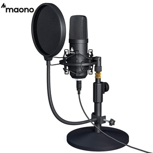 MAONO USB Microphone Professional Podcast Streaming Microphone Condenser Studio Mic for Computer YouTube Gaming Recording A04T