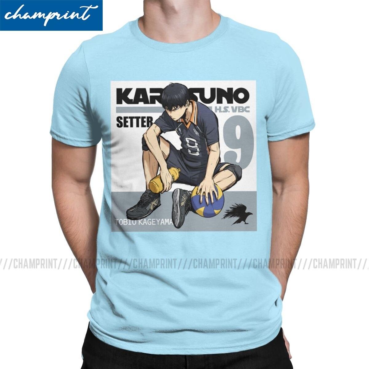 Camiseta haikyu-tobio Kageyama para hombre, camisetas de Manga de voleibol, ropa única de Manga corta, Camiseta de cuello redondo, camisetas de talla grande