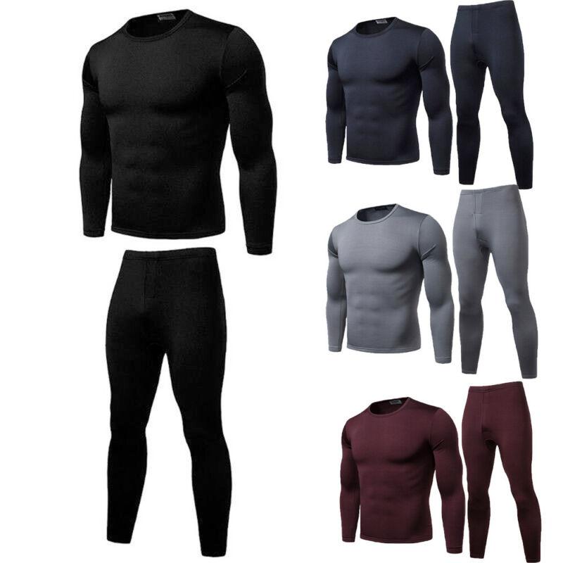 Зима мужские термобелье комплекты эластичные теплые флисовые длинные брюки мужские Polartec дышащие термо нижнее белье костюмы