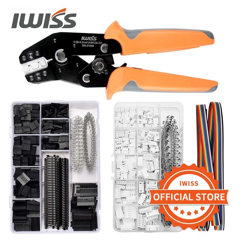 IWISS SN-01BM обжимной инструмент набор щипцы плоскогубцы с 2,54 мм Dupont разъемы 2,54 мм JST-XH разъемы для AWG 28-20 (0,08-0,5 мм ²)