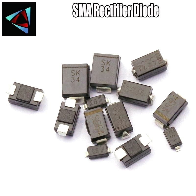 20 piezas gran SSS36 SK36 B360C 3A60V SMC DO-214AB diodo Schottky