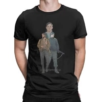 casual the last of us t shirts men crew neck pure cotton t shirt video games short sleeve tee shirt graphic clothing