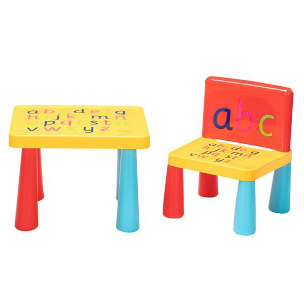 [40 x 35 x 30]Plastic Children Table and Chair Set Including 1 Table And 1 Chair Reduced Version Mushroom Leg Children Furniture